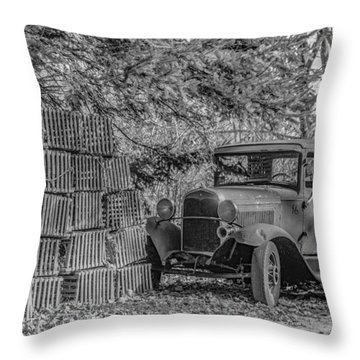 Lobster Pots And Truck Throw Pillow