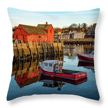 Lobster Traps, Lobster Boats, And Motif #1 Throw Pillow