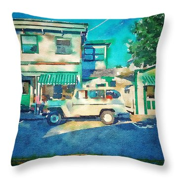Local Maine  Throw Pillow