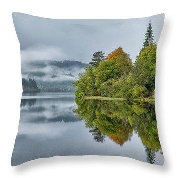 Loch Ard In Scotland Throw Pillow