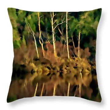 Loch Lundie Digital Painting Throw Pillow