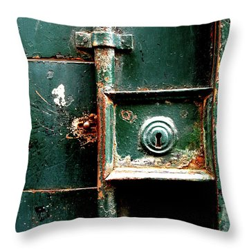 Throw Pillow featuring the photograph Lock by Edward Lee