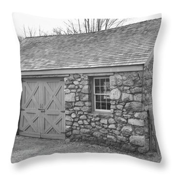Lock House, Detail - Waterloo Village Throw Pillow