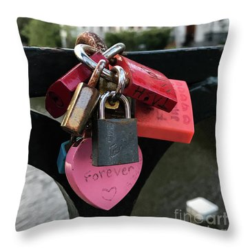 Lock Up Your Love Throw Pillow
