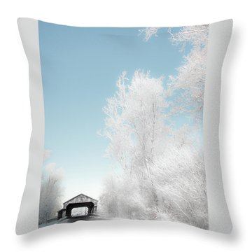 Throw Pillow featuring the photograph Lockport Covered Bridge 2 by Michael Arend