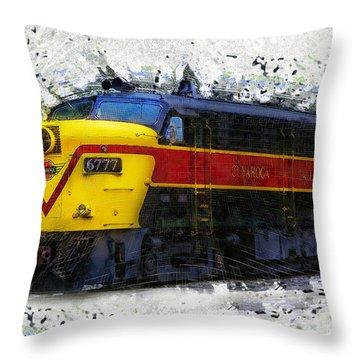 Loco #6777 Throw Pillow