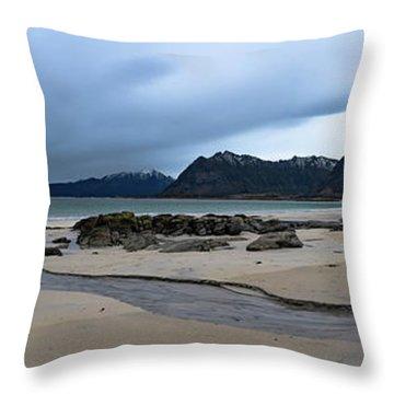 Lofoten Beach Throw Pillow
