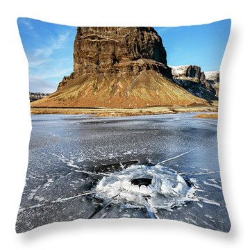 Lomagnupur Mountain Iceland Throw Pillow