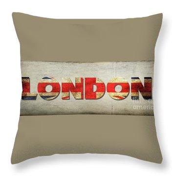 London Banner 3 Throw Pillow