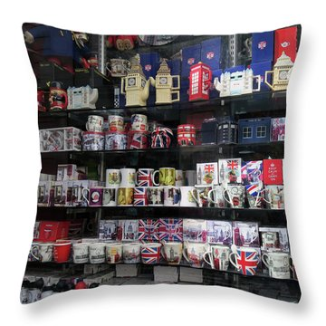 London England Shop Window Throw Pillow