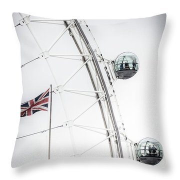 London Eye And Union Jack Throw Pillow