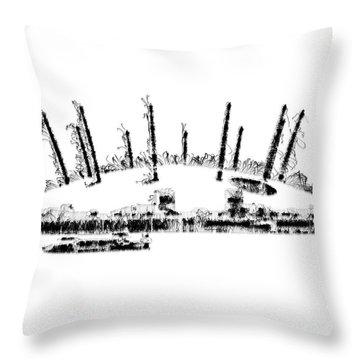 London O2 Arena Throw Pillow