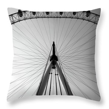 Throw Pillow featuring the photograph London_eye_i by Mark Shoolery