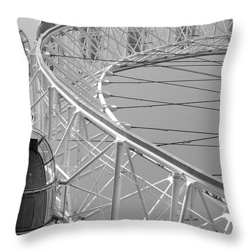 Throw Pillow featuring the photograph London_eye_ii by Mark Shoolery