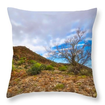 Lone Palo Verde Throw Pillow