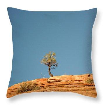 Lone Tree Big Sky Throw Pillow