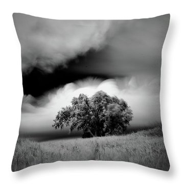 Lone Tree On A Hill Throw Pillow