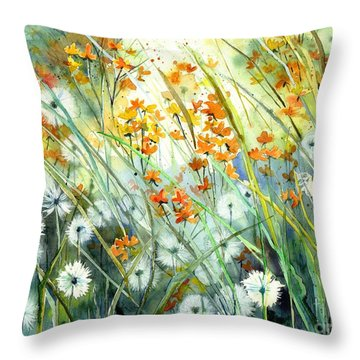 Lonely End Of The Summer Throw Pillow