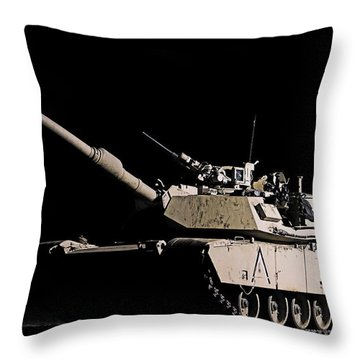Lonely Nights Throw Pillow