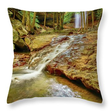 Long Falls Throw Pillow