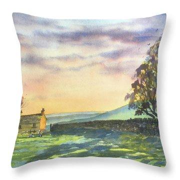 Long Shadows At Sunset Throw Pillow