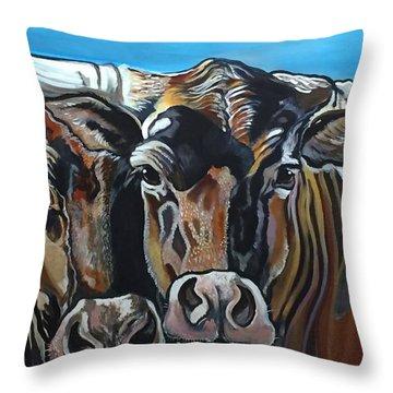 Longhorns, Interrupted Throw Pillow