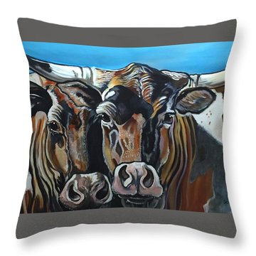 Longhorns, Interrupted Throw Pillow