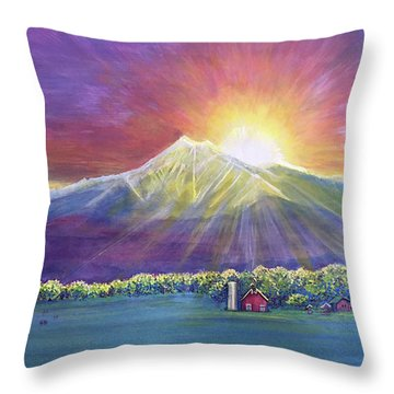 Longs Peak Colorado Throw Pillow
