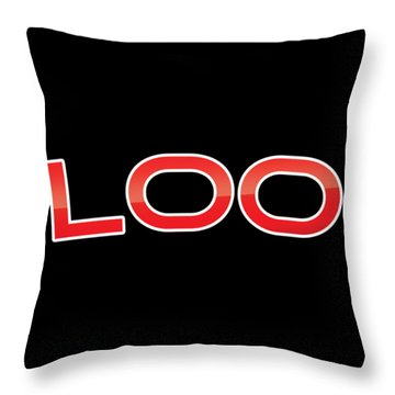 Throw Pillow featuring the digital art Loo by TintoDesigns