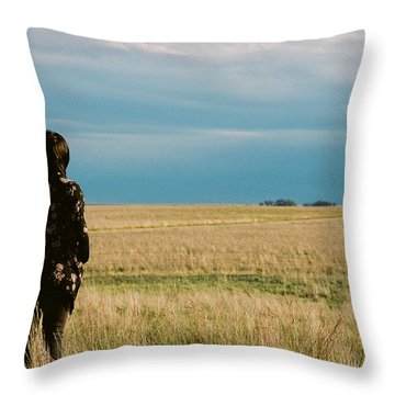Throw Pillow featuring the photograph Look To The West by Carl Young