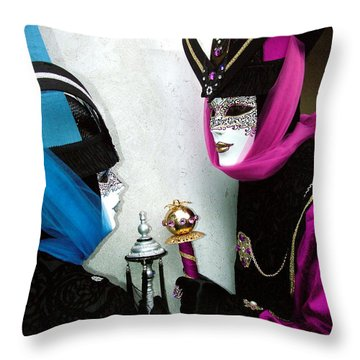 Throw Pillow featuring the photograph Looking Into Each Others Eyes by Donna Corless