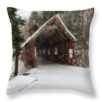 Loon Song Covered Bridge 2 Throw Pillow