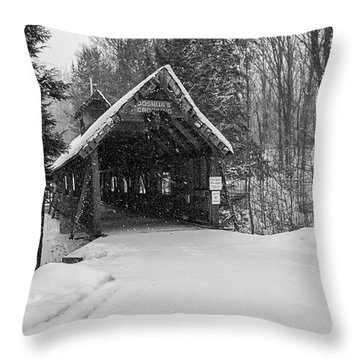 Loon Song Covered Bridge 3 Throw Pillow