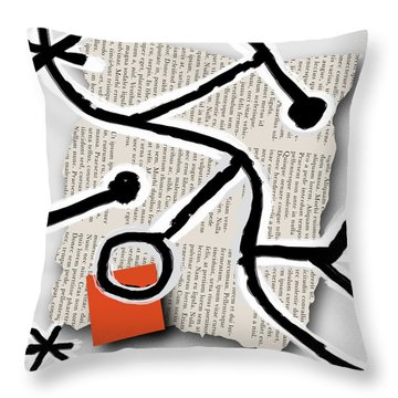 Throw Pillow featuring the photograph Lorem Ipsum 1 by Mark Shoolery