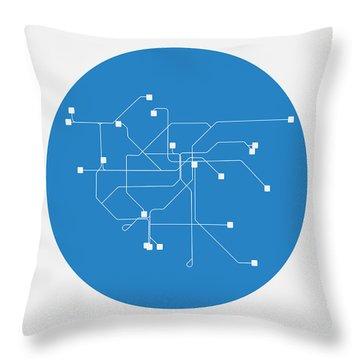 San Francisco Blue Subway Map Throw Pillow