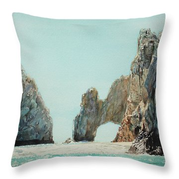 Los Arcos, Cabo Throw Pillow