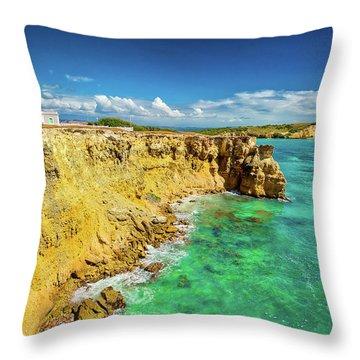 Los Morrillos Lighthouse Throw Pillow