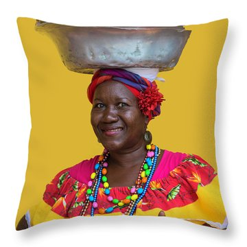 Los Palenques De Cartagena De Indias Throw Pillow