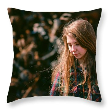 Throw Pillow featuring the photograph Lost In The Metal by Carl Young