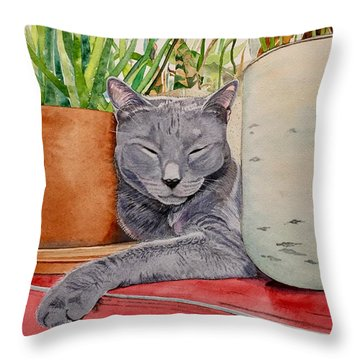 Louie In An Urban Jungle Throw Pillow