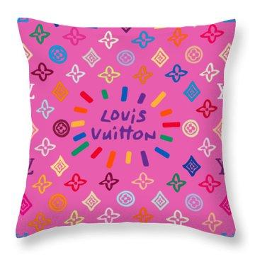 Louis Vuitton Monogram-9 Throw Pillow