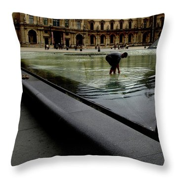 Louvre, Water Throw Pillow
