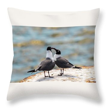 Throw Pillow featuring the photograph Love Birds by Dheeraj Mutha