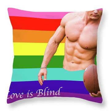 Love Is Blind 4 Throw Pillow