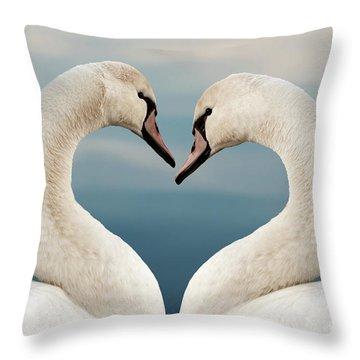 Love Swans Throw Pillow