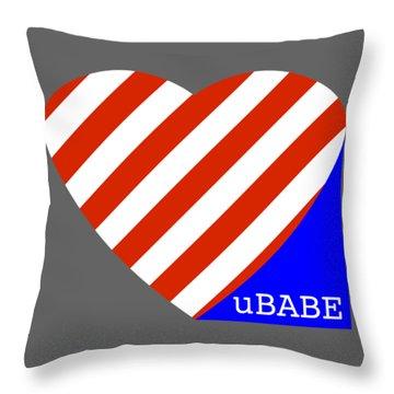 Love Ubabe America Throw Pillow