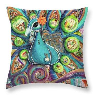 Love Your Fabulous Self V2 Throw Pillow
