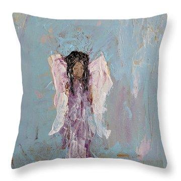 Lovely Angel  Throw Pillow