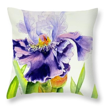 Lovely Iris Throw Pillow