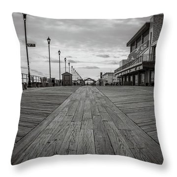 Low On The Boardwalk Throw Pillow